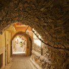 Tunnel street at Pyrgi, Chios Island, Greece